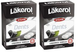 Läkerol  Dents Liquorice Vanilla Swedish Xylitol Candies 85g * 2 pack 6 oz - $16.83