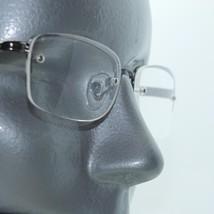 Reading Glasses Square Shiny Gray Hematite Metal Top Frame Bottomless +3.00 Lens - $16.00