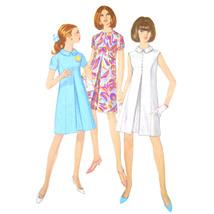 Vtg 60s Simplicity 7083 Misses A-Line Dress Short Sleeve Sleeveless Pleat 12/32 - $7.95