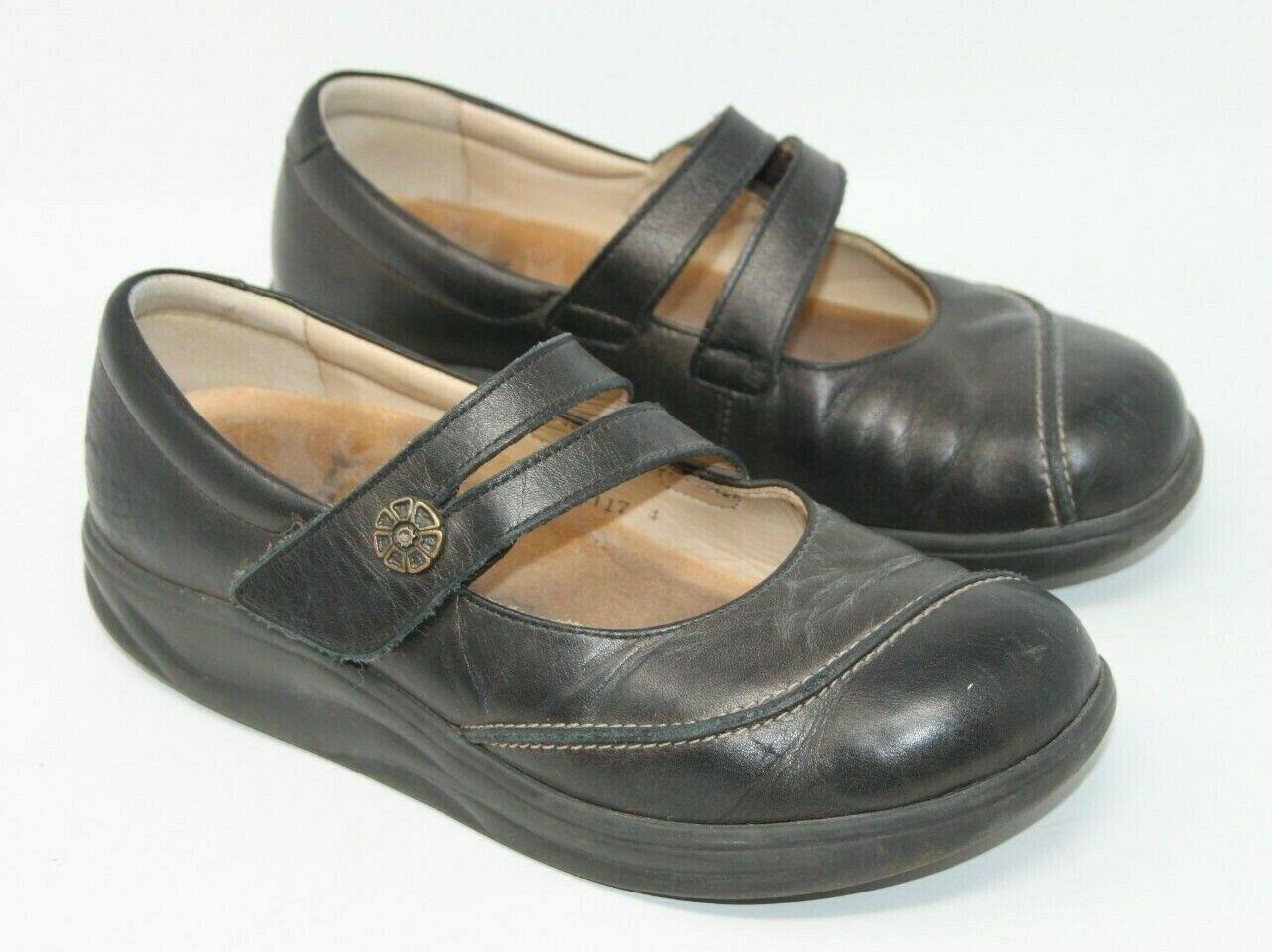Finn Comfort Size 6.5 M Black Mary Jane Hook & Loop Comfort Orthopedic Shoes