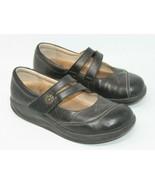 Finn Comfort Size 6.5 M Black Mary Jane Hook & Loop Comfort Orthopedic S... - $32.29