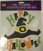 Halloween Gel Window Cling Stickers 22 Count ~ Happy Halloween Witch Hat  w - $5.49
