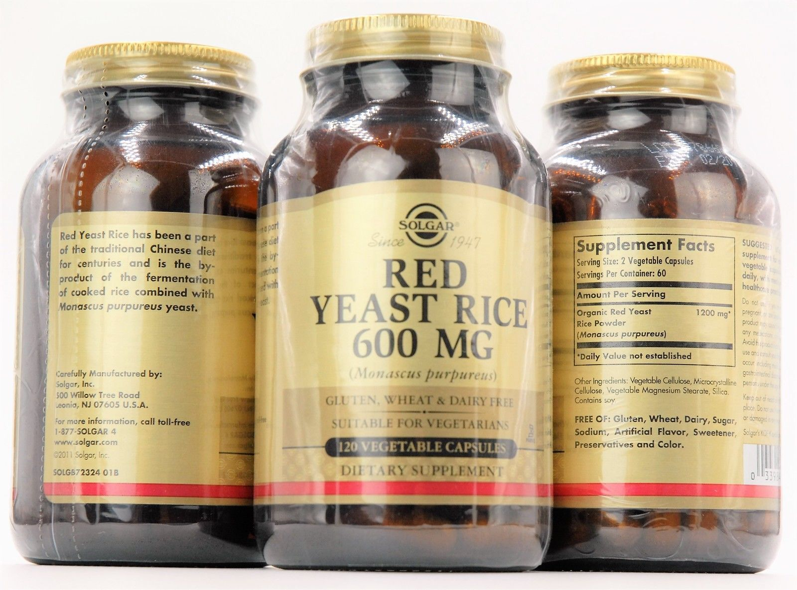 Red Yeast Rice Extract | 1200 Mg Per Serving | Heart Healthy Vegetarian Formula