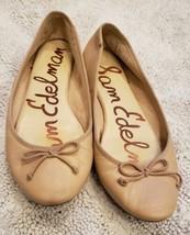 Sam Edelman Carla Ballet Flats Size 9.5M Brown Bow Slip On Shoes - $28.04
