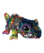 "Pyoopeo Ty Sequins Flippables 6"" 15cm Karma the Chameleon Plush Regular ... - $19.70"