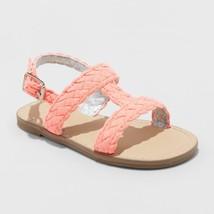 Toddler Girls' Elsie Two Piece Slide Sandals - Cat & Jack Coral - $18.00