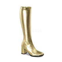 "Sexy 3"" High Heel Gogo Dancer Gold Knee Boots Halloween Costume GOGO300/... - $42.70"