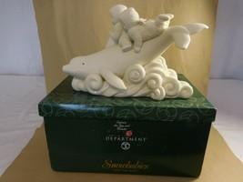 """Snowbabies Dept 56 """"Ride The Wave"""" Snowbabies Riding A Whale  2000   - $47.54"""