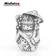 Ine 925 sterling silver umbrella doll charm bead fit ohm troll and pan bracelet jewelry thumb200
