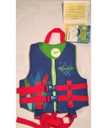 Speedo Childrens Life Jacket, Size 30-50 lbs, Blue, Green and Red - Brand New - $36.00
