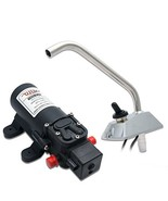 Maso 12V SELF-PRIMING GALLEY ELECTRIC WATER PUMP & 360° Spin FAUCET/TAP ... - $47.13