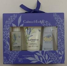 Crabtree & Evelyn Lavender Travel Gift Set Bath Shower Gel Lotion Hand T... - $24.99
