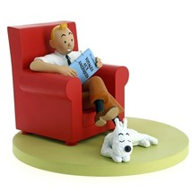 Tintin red armchair resin statue NEW Icons collection Tintin