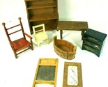 VINTAGE DOLLHOUSE FURNITURE Lot DOLL HOUSE FURNITURE