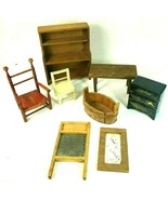 VINTAGE DOLLHOUSE FURNITURE Lot DOLL HOUSE FURNITURE - £35.71 GBP
