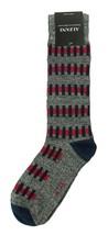 NEW MENS ALFANI SEAMLESS GEO RED CREW DRESS SOCKS 10-13 - $3.46
