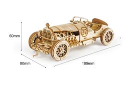 Wooden Hands Craft Grand Car 3D Puzzle  Model Scale Heavy Stem Puzzles E... - $20.79