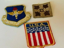 Military Patch vtg Army Navy Air Force Marines patches mixed Lot flag training - $19.69