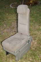 05-10 Honda Odyssey Plus One Center Middle Jump Seat FABRIC / CLOTH - Olive image 5