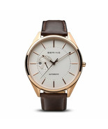 BERING Time Men's Automatic Collection - Leather Strap Watch - 43mm - 16... - $230.30