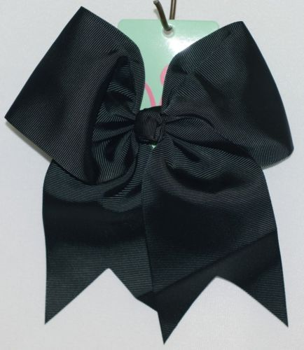 WB M5000BLK Polyester Grosgrain Ribbon Hair Bow Alligator Clip Black