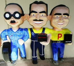 """Pep Boys Automotive Car Metal Sign Only 48"""" by 42""""  - $495.00"""
