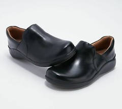 Clarks Unstructured Leather Slip-On Shoes - Un Loop 2 Step @DC2A - $69.99