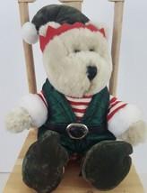Starbucks Bearista Bear Christmas Elf 11 Inch 2001 Plush Stuffed Animal  - $19.99
