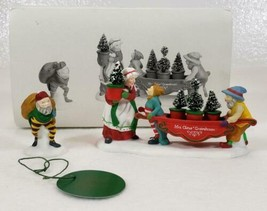 Dept 56 Heritage Village DELIVERING THE CHRISTMAS GREENS set of 2 retire... - $19.99