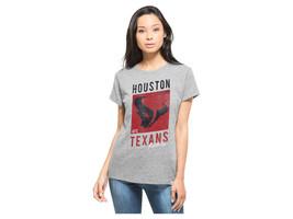 HOUSTON TEXANS '47 NFL Women's Hero Tee T-Shirt GRAY - Sz LARGE - $12.95