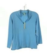 NWT Womens Size XL Geneva Blue 100% Pure Cashmere Pullover V-Neck Sweater - $34.29