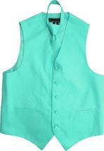 Men's Solid Color Adjustable Dress Vest & Neck Tie Set for Suit or Tuxedo image 9