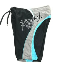 Rip Curl Board Shorts Men's Size 32 Sewn On Graphic Swim Suit Cargo Pock... - $21.63