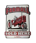 Open Road Brands Farmall Quality Equipment Die Cut Embossed Tin Sign - $19.65