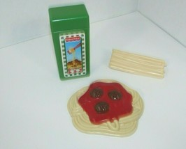 Fisher Price Fun with Food play vintage spaghetti meatballs box noodles ... - $24.74
