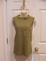 New In Pkg Styles To GO/NEWPORT News 100% Cotton Sleeveless Tunic Top Xsmall - $7.42