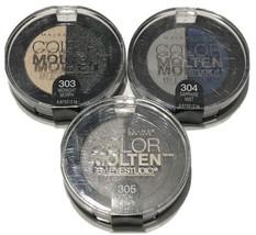 3 Maybelline Color Molten Studio Eye Shadow 303 Midnight 304 Sapphire 30... - $11.78