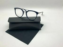 New Guess Frame GU1964 092 Dark BLUE/GUNMETAL 52-20-145MM /CASE Cloth - $31.79
