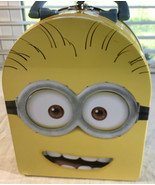 Despicable Me MINIONS Head Tin Carry All Lunch Box Case Two-Eyed Phil New - $11.64