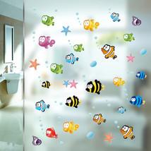 Underwater Fish Starfish Bubble Wall Sticker For Kids Rooms Cartoon Nurs... - $7.77
