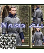 Nasir Ali Stainless Steel Chain Mail Shirt Full Flat Riveted Large High ... - $475.20