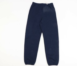Vintage 90s Streetwear Mens 2XL Blank Faded Sweatpants Joggers Navy Blue... - $44.50
