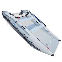 BRIS 11 ft Inflatable Catamaran Inflatable Boat Dinghy Mini Cat Boat Gray image 6