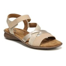NATURAL SOUL WOMEN'S SANDALS TAN AND GOLD 9.5 M - $19.20