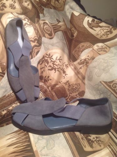 8b77896f3f3 HUSH PUPPIES WOMEN S CLASS ACT II BLUE SUEDE LEATHER STRETCH SHOES SIZE 7.5M