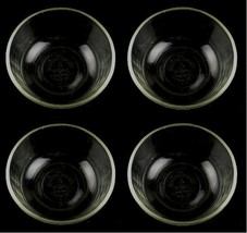 Fire King 6 oz set of 4 clear glass fluted custard pudding bowls 424 Vin... - $13.18