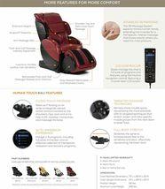Human Touch Espresso Brown Bali Massage Chair Recliner w Arm Calf + Foot Massage image 11