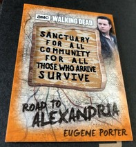 Topps 2018 The Walking Dead Alexandria Patch Carte Eugene Terminus Rouil... - $14.79