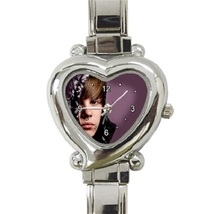Ladies Heart Italian Charm Watch Justin Bieber Gift model 35347877 - $11.99