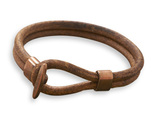 W2180 men s leather and copper bracelet thumb155 crop